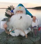 "6""Sea Glass Santa"